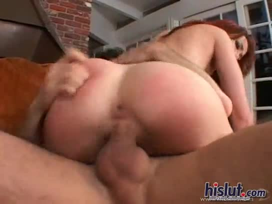 Amateur red head sucks and fucks pornstar james deen in hardcore sex tape