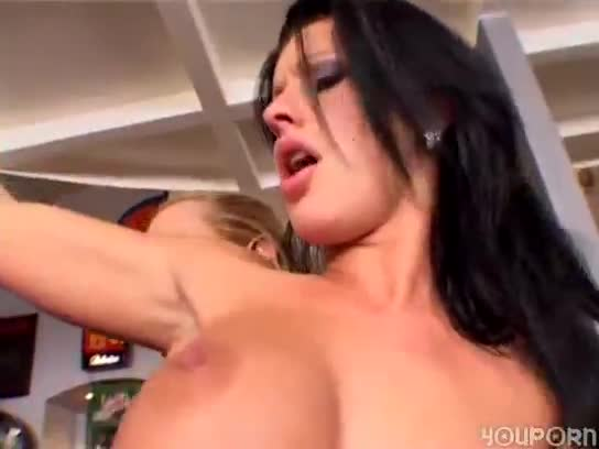 Fucking a busty beautiful milf with sausage